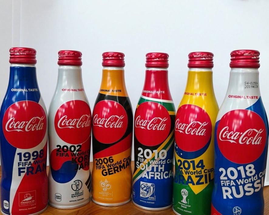 [6개묶음] 일본한정 월드컵 시리즈 코카콜라 250ml (1998~2018년)