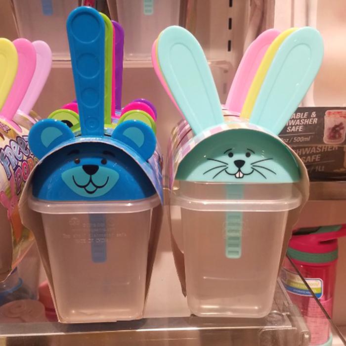 coolgear 동물원, 토끼 아이스크림 메이커 트레이 4개입 2종 택1