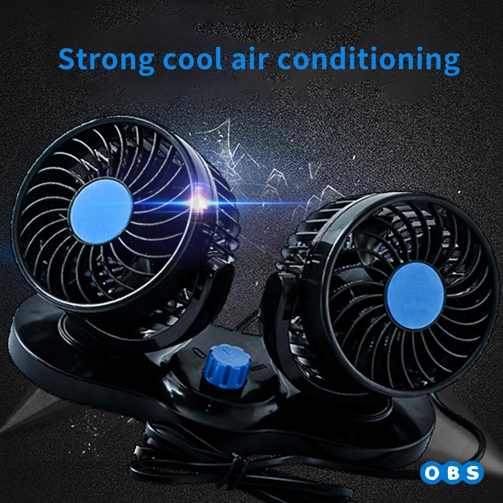 차량용 미니 선풍기 양날개 자동차 냉풍기 화물차추천