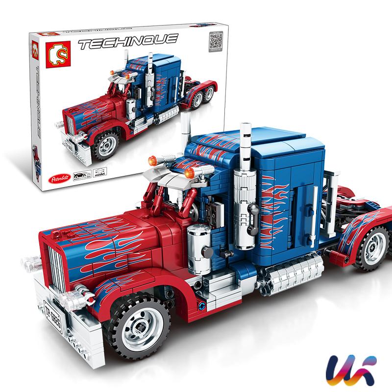 옵티머스 프라임 미국 대형 트럭 조립 장난감 어린이선물