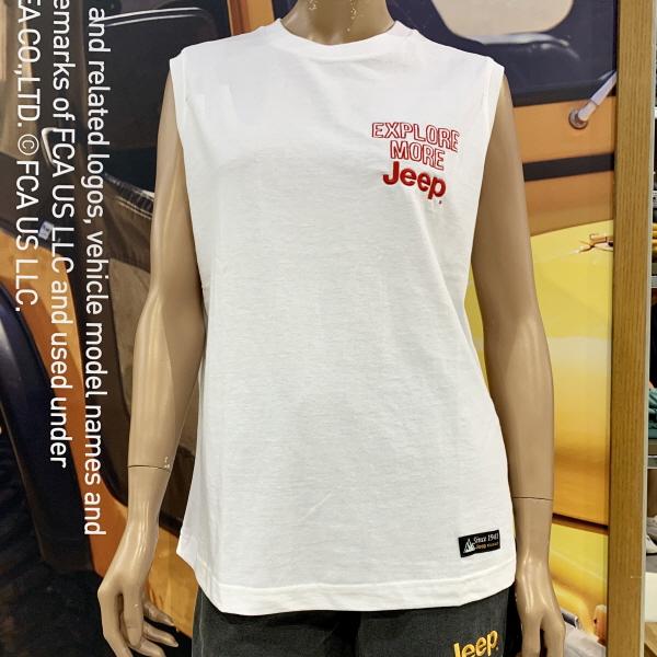B_EXPLORE MORE JEEP 민소매 티셔츠(GL2TSU603)