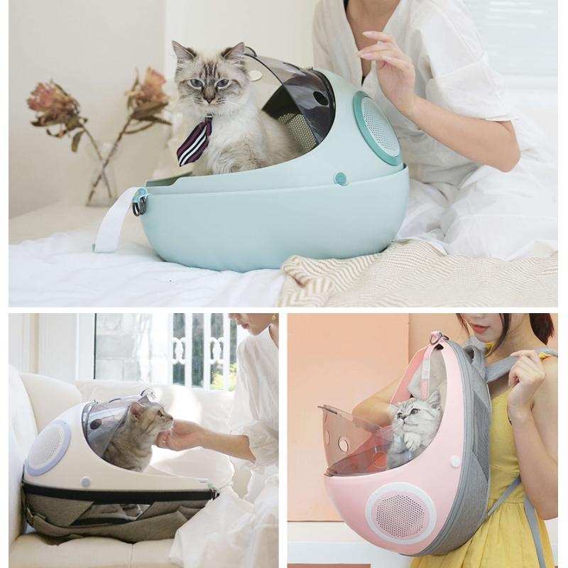 에그쉘 고양이 이동가방 하우스 - 화이트,민트,핑크